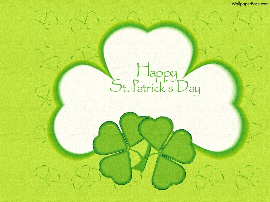 Patricks Day Clover Desktop Wallpaper Happy St Patricks
