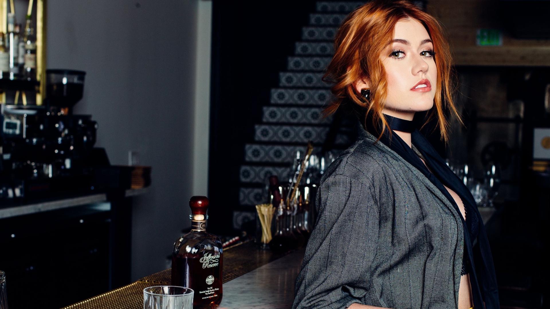 Wallpaper Katherine Mcnamara Actress Red Head Pub