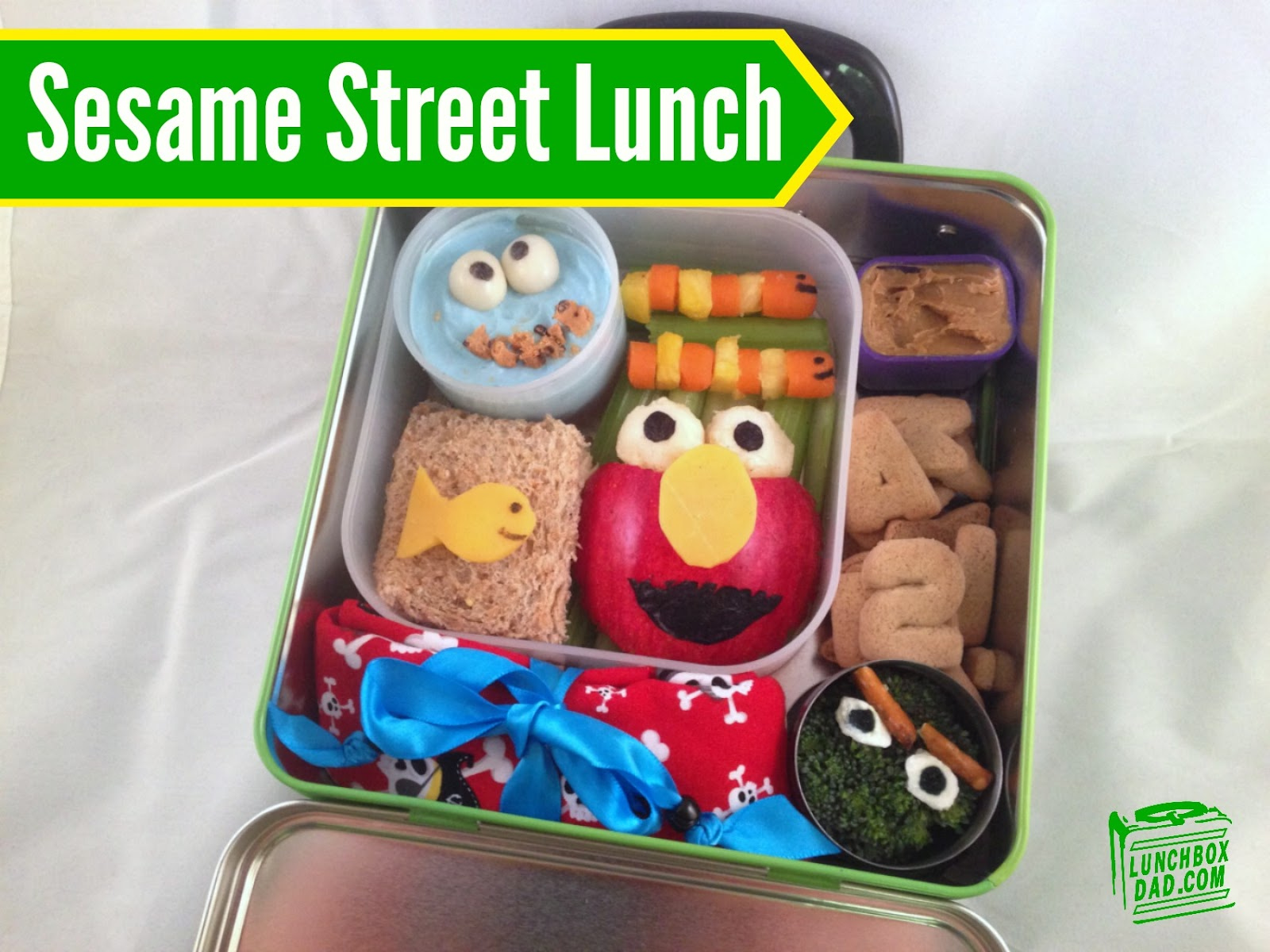 Sesame Street Bento Lunch With Elmo Oscar The Grouch The