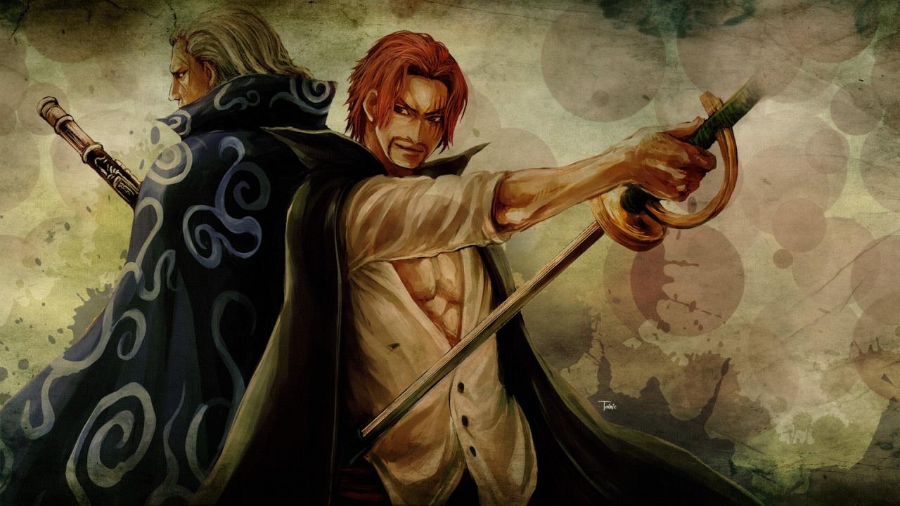 Shanks Edward Newgate Mythology Dracule Mihawk Shanks And