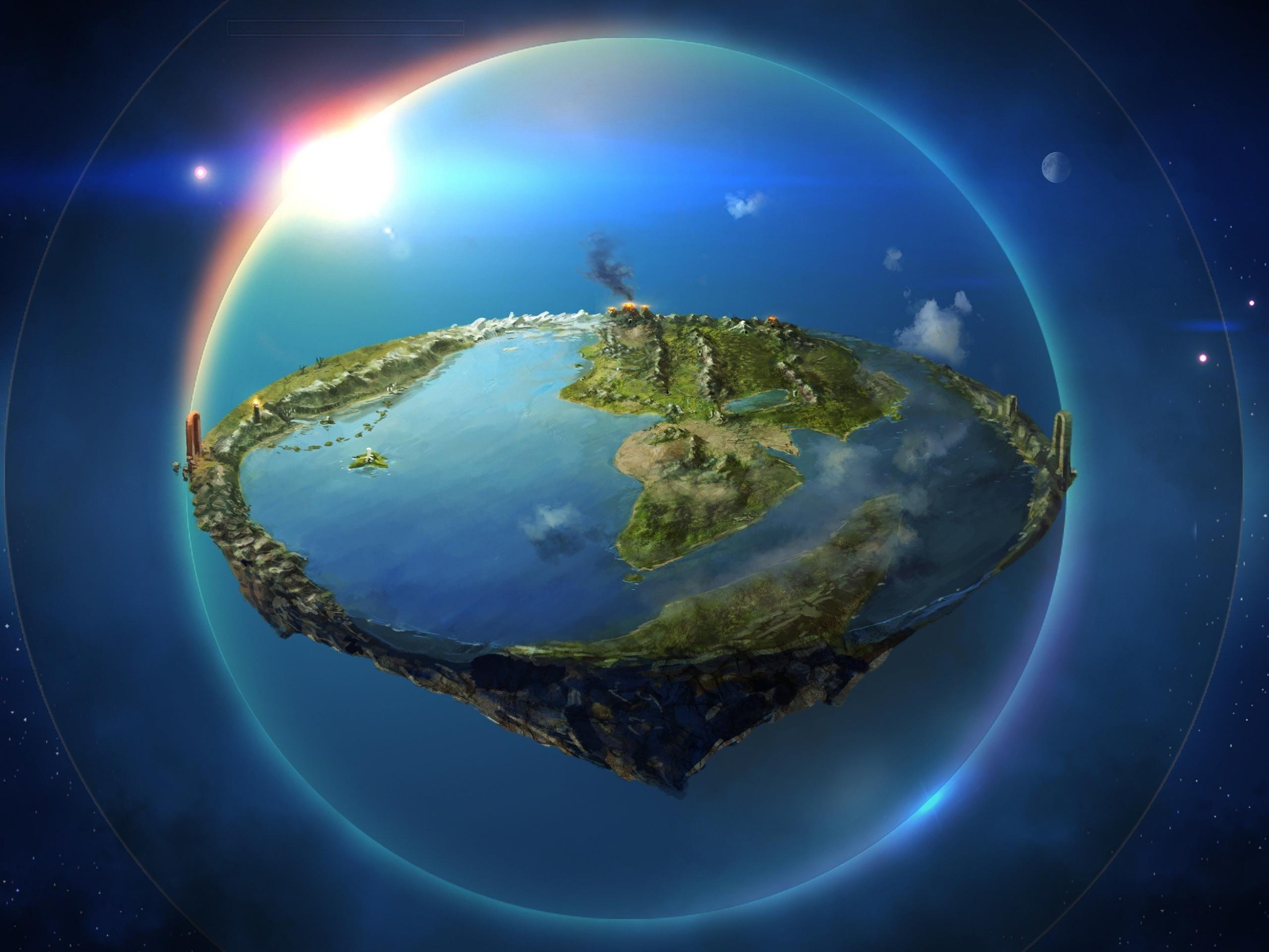 Flat Earth Illustration, Arda, The Silmarillion, The - Eru