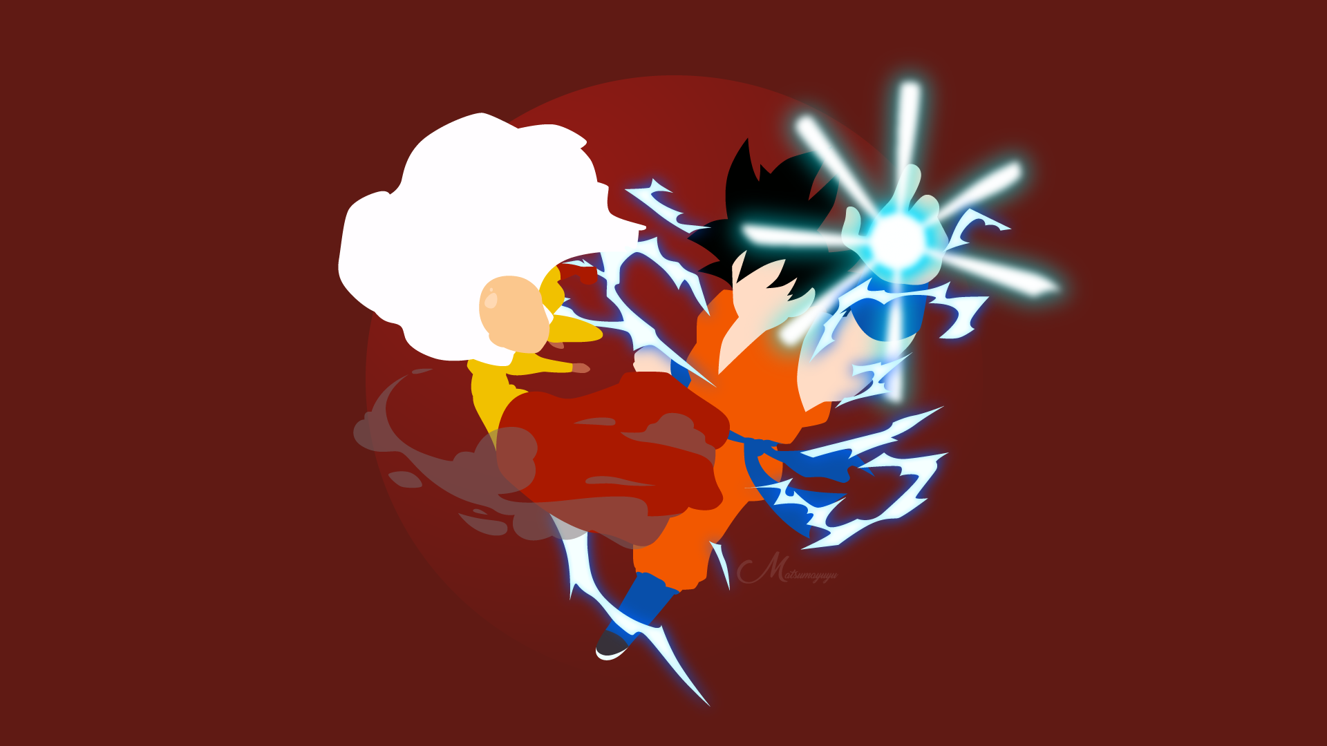 Saitama Goku Crossover Dragon Ball One Punch Man One