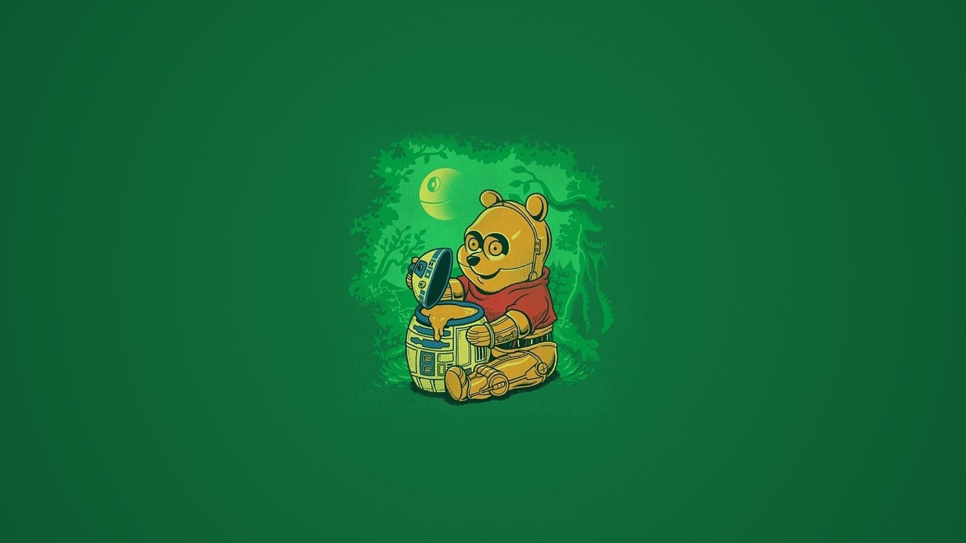 Winnie The Pooh Star Wars Crossover Wallpaper Funny Star Wars Background 1236173 Hd Wallpaper Backgrounds Download