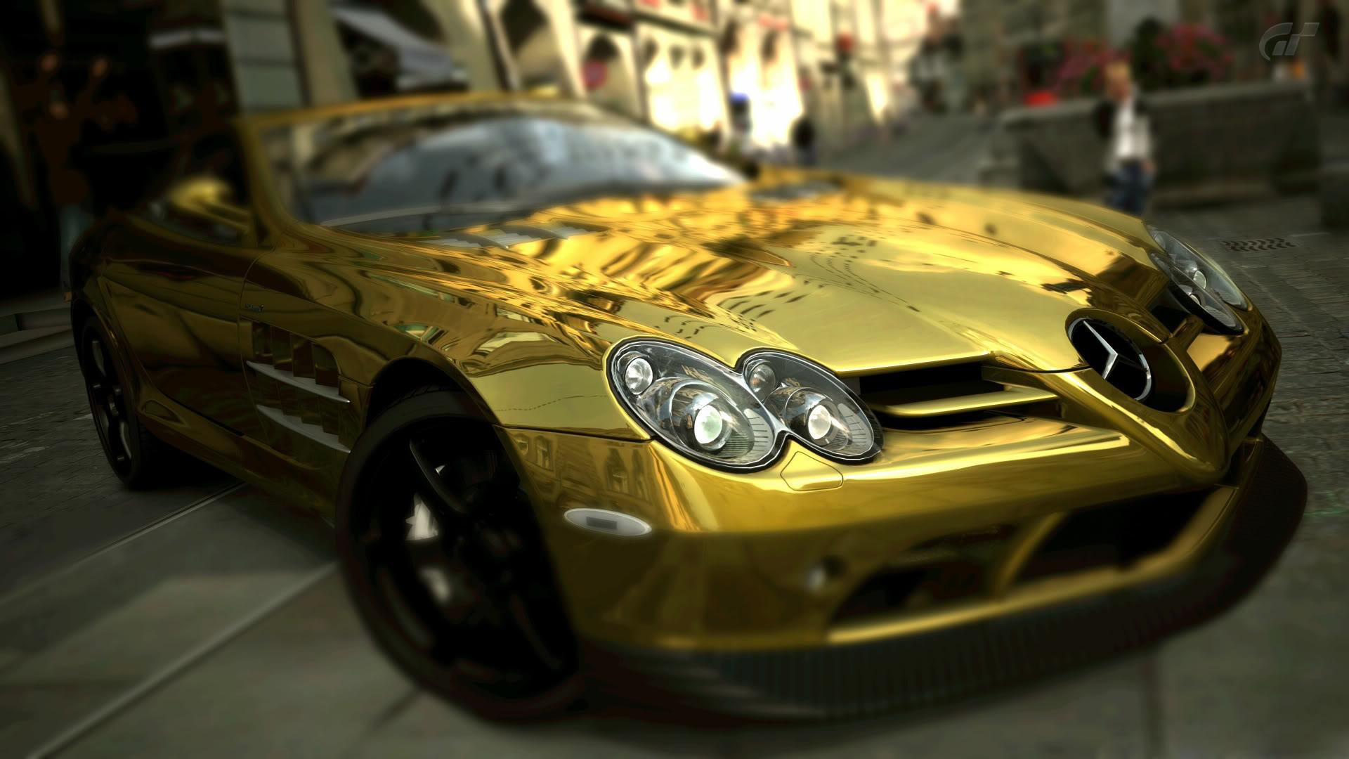 Cool Gold Cars Wallpapers Pc Mercedes Benz Slr Mclaren