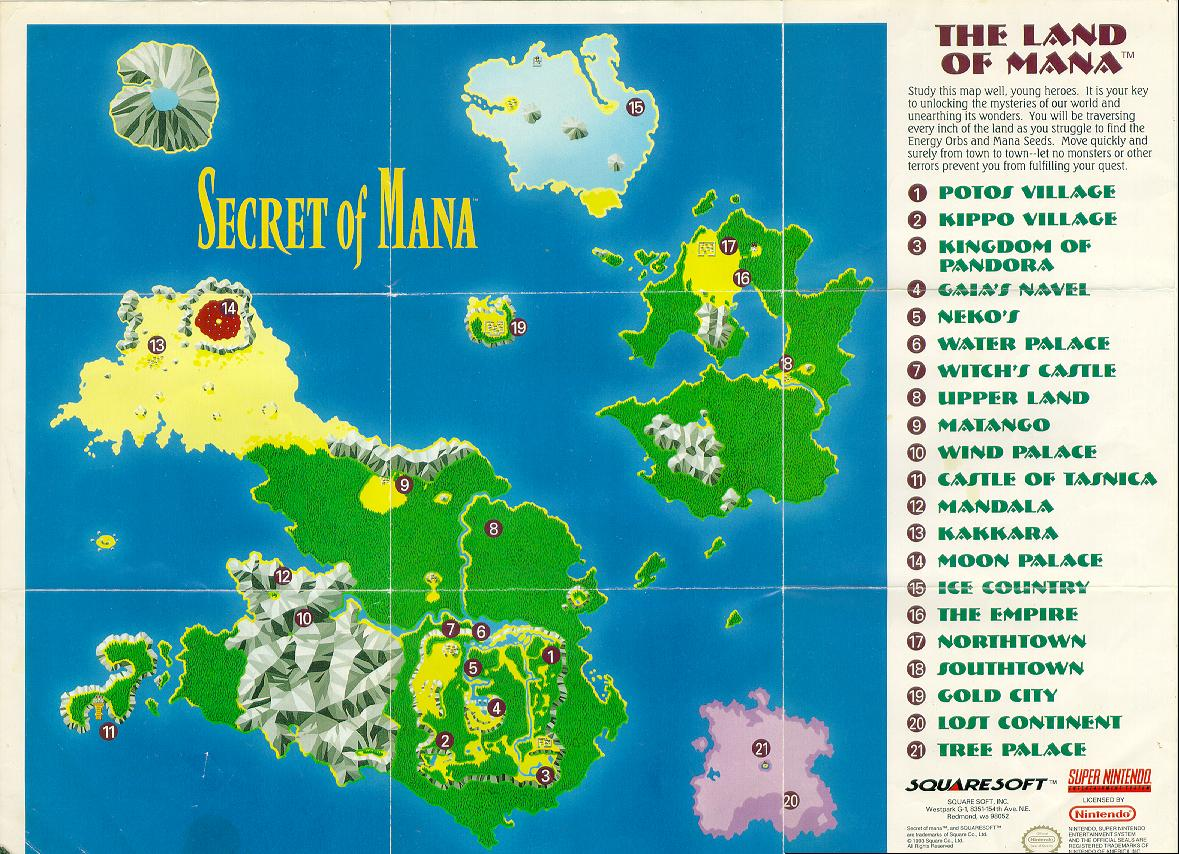 Mana Series Images Land Of Mana Map Hd Wallpaper And Secret Of