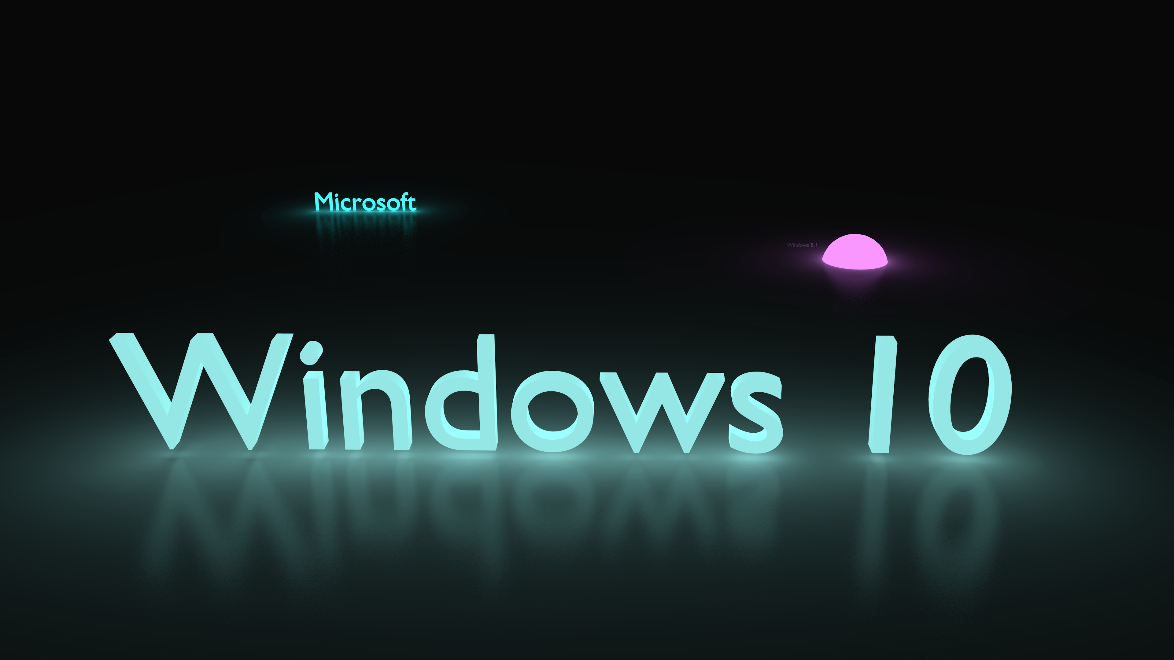 Windows 10 Glowing Blue HD Wallpaper