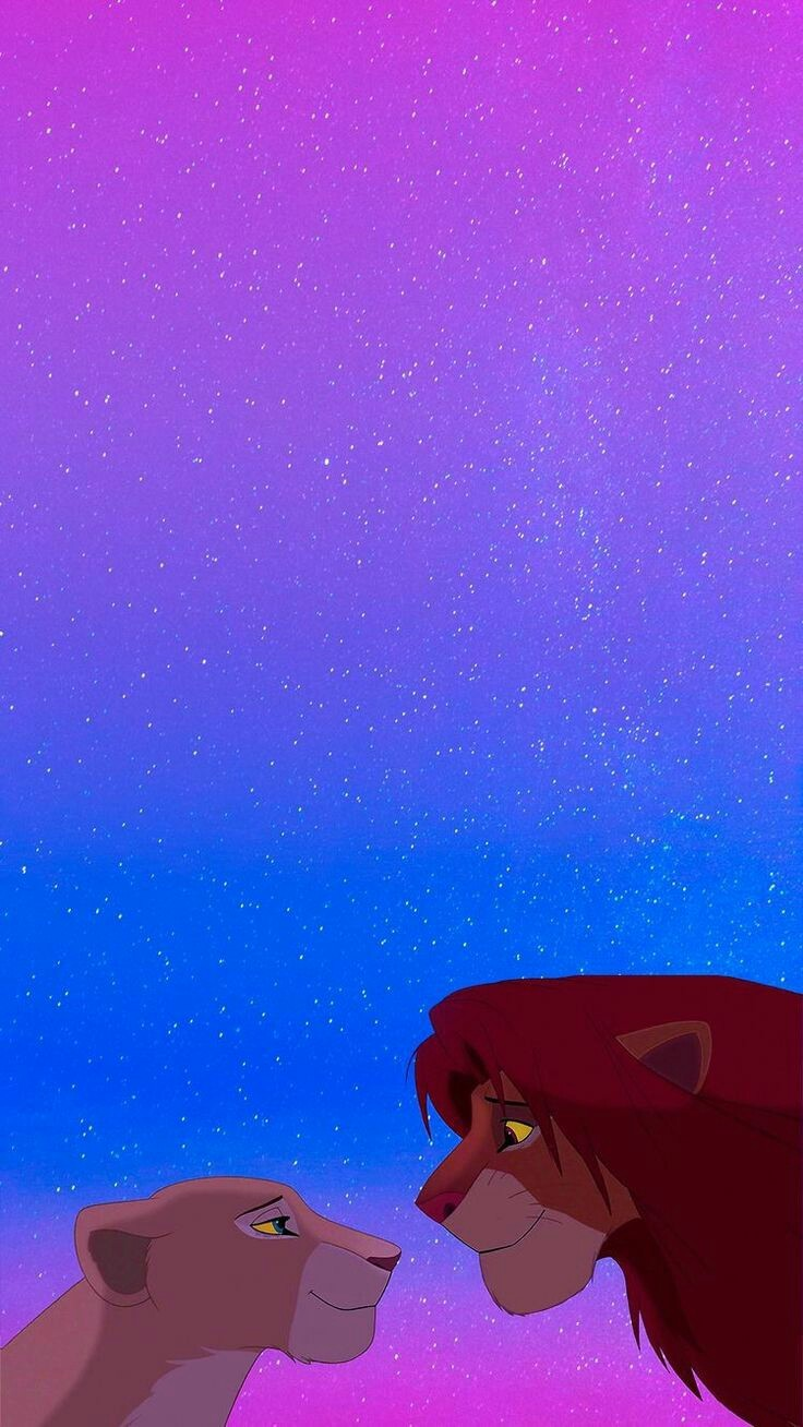 The Lion King 13 Snoopy Wallpaper, Rei, Big Cats, Lion, - Simba And Nala Iphone , HD Wallpaper & Backgrounds