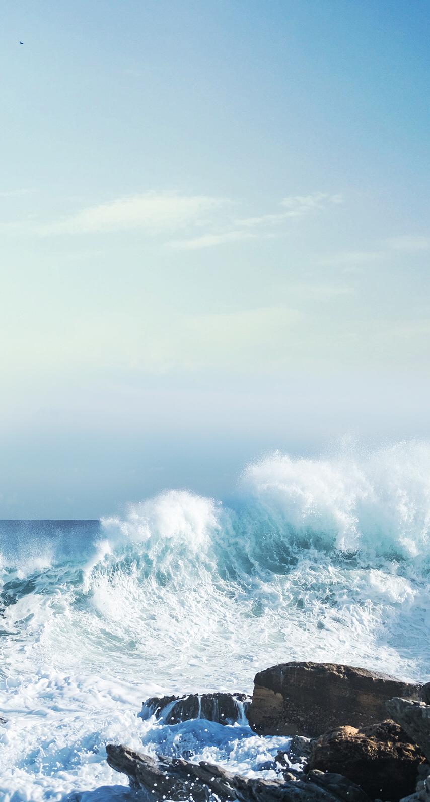 P I N T E R E S T / / @roseburst ♡ Live Wallpaper Iphone, - Ocean Blue Aesthetic , HD Wallpaper & Backgrounds
