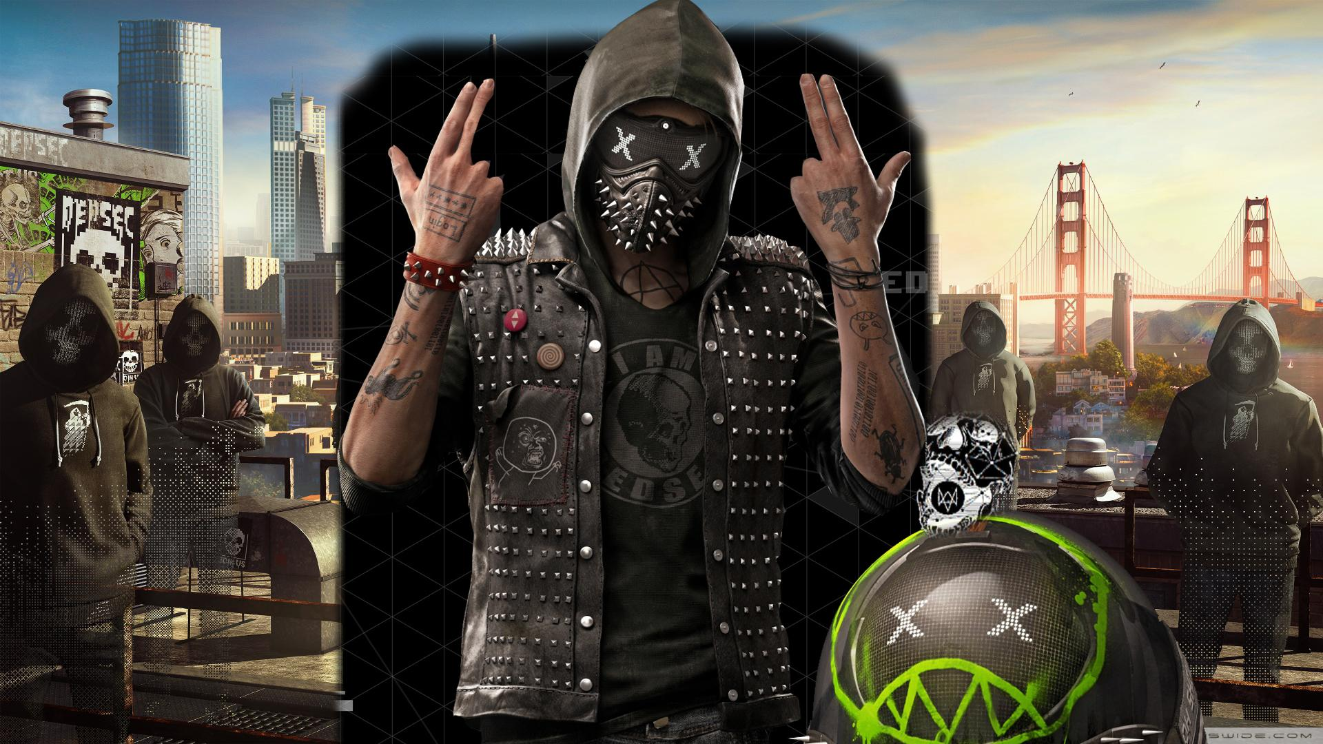 Wd2 Imagei Clipped Together A Wallpaper For Watch Dogs - Watch Dogs 2 Haum , HD Wallpaper & Backgrounds
