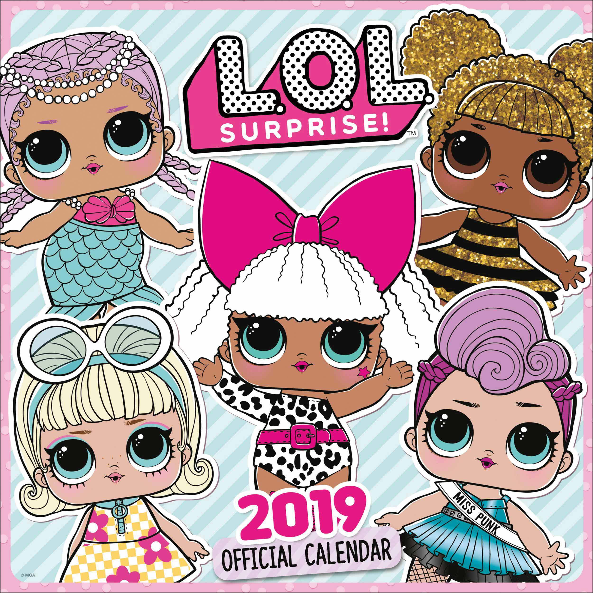 Lol Surprise Cartoon Images Lol Surprise Doll Calendar