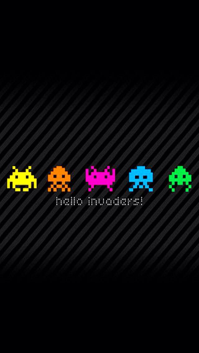 Iphone Wallpaper - Space Invaders Wallpaper Iphone , HD Wallpaper & Backgrounds