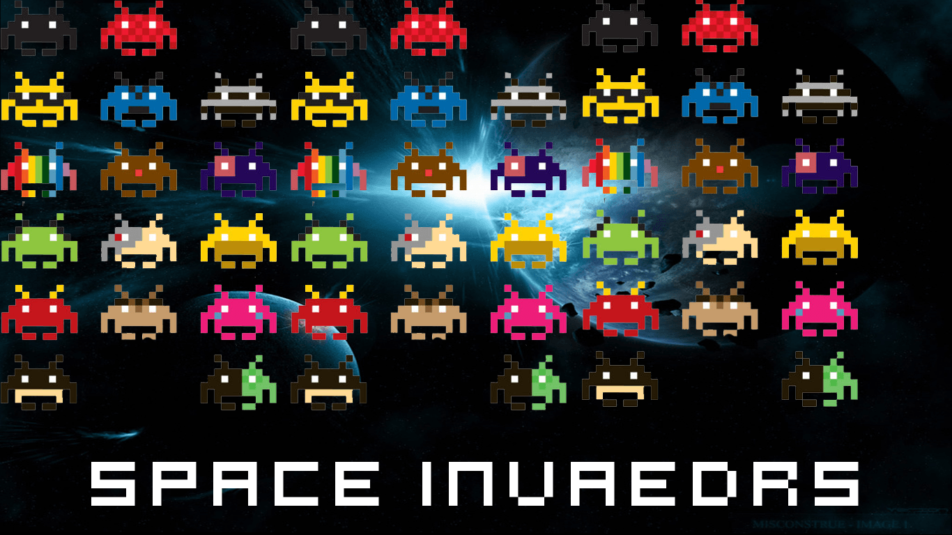 Space Invader Wallpaper Picserio 80 S Arcade Games 1258969 Hd Wallpaper Backgrounds Download