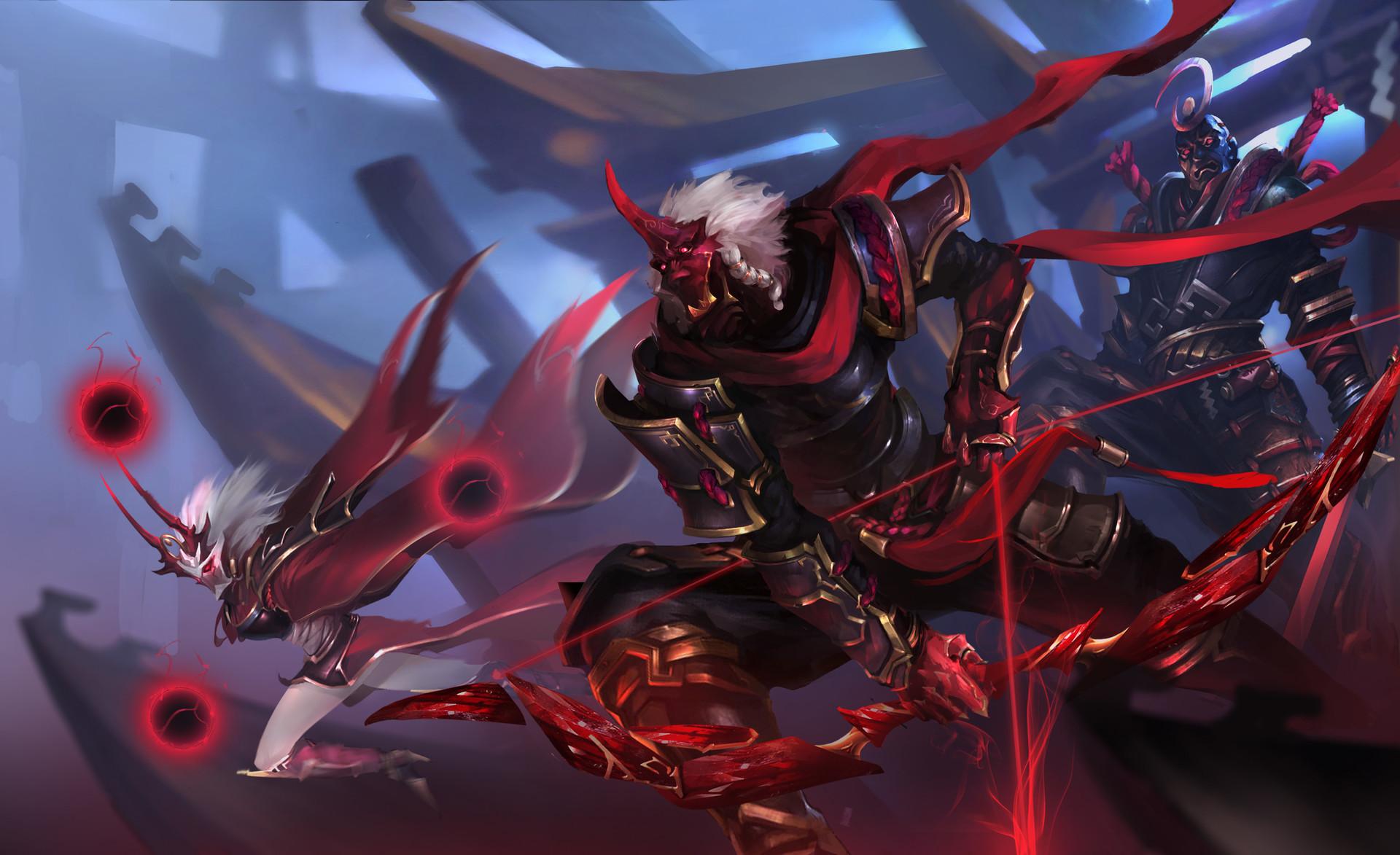 Zed Lol Shen Fan Art 1260538 Hd Wallpaper