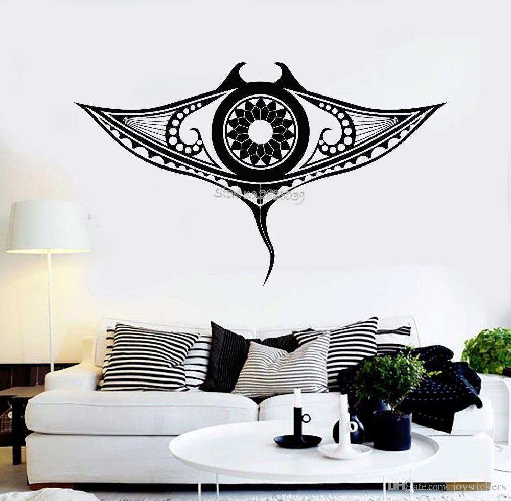 New Design Vinyl Wall Decal Manta Ray Marine Ocean - Coffee Wall Sticker , HD Wallpaper & Backgrounds