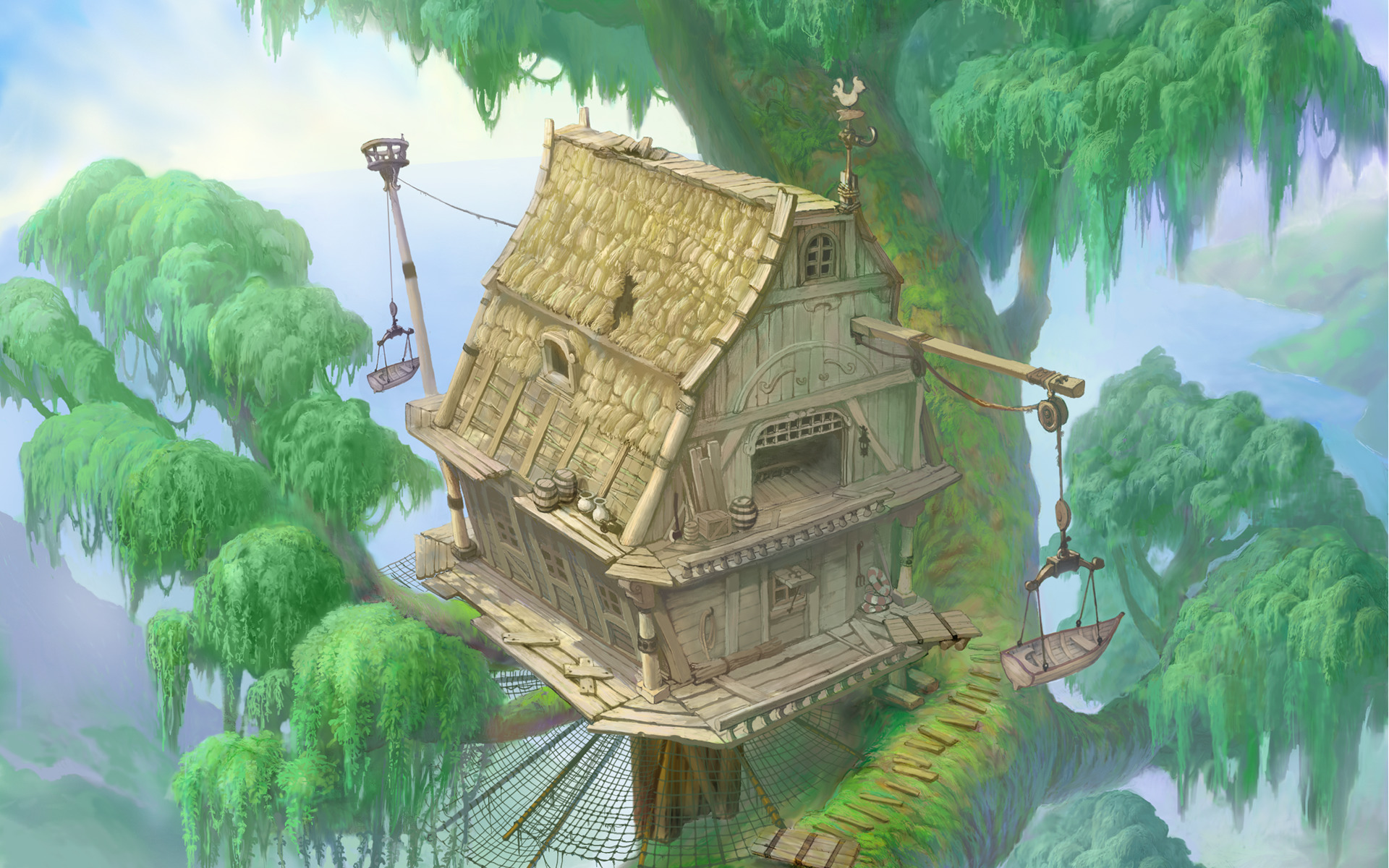 Treehouses, Trees, Kingdom Hearts, Tarzan, Video Games - Trees For Mobile Games , HD Wallpaper & Backgrounds
