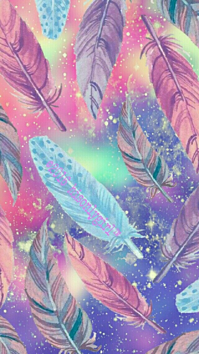 Falling Feathers Galaxy Iphoneandroid Wallpaper I Feather