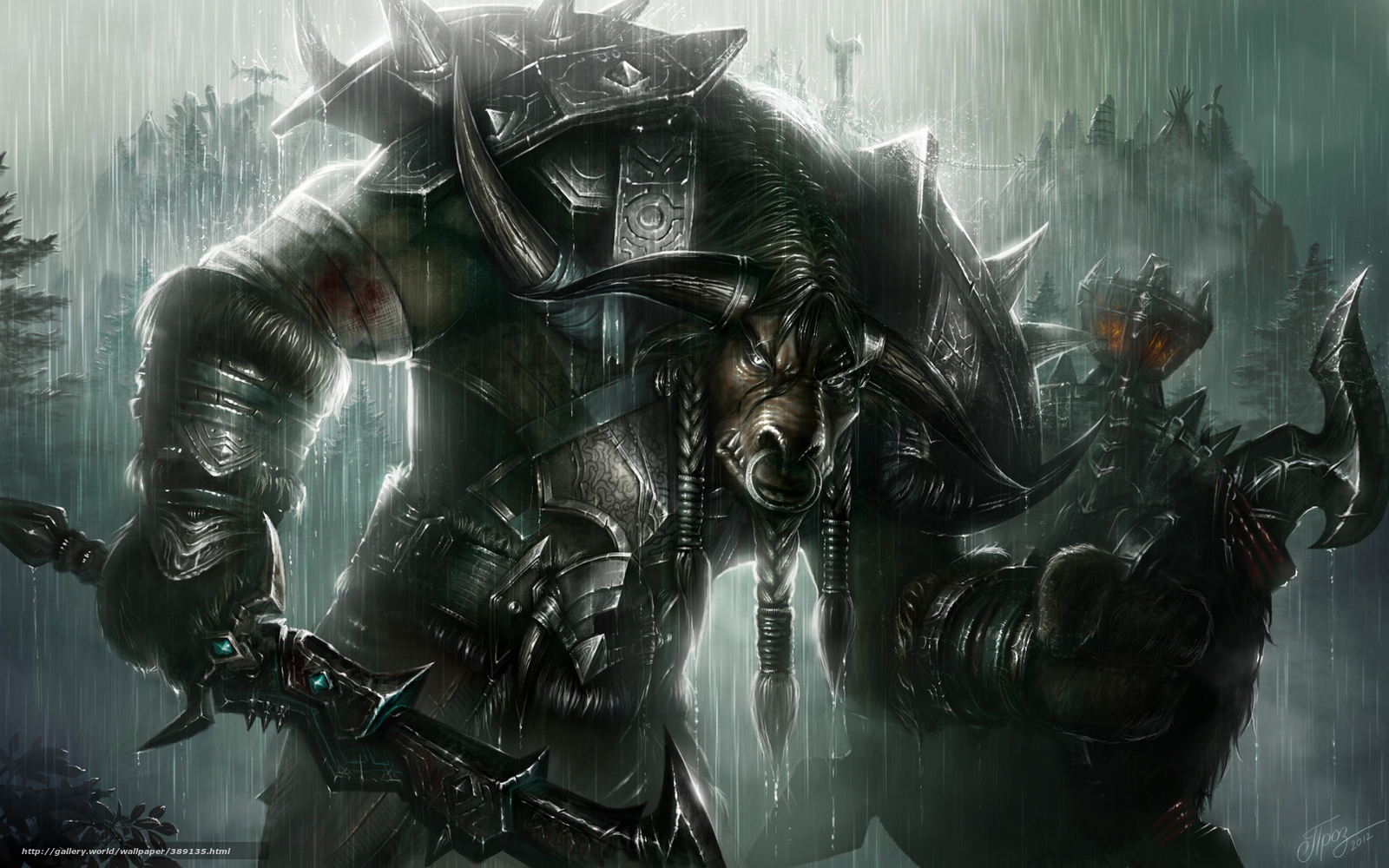 Download Wallpaper Warcraft Islands Tauren Warrior Wow