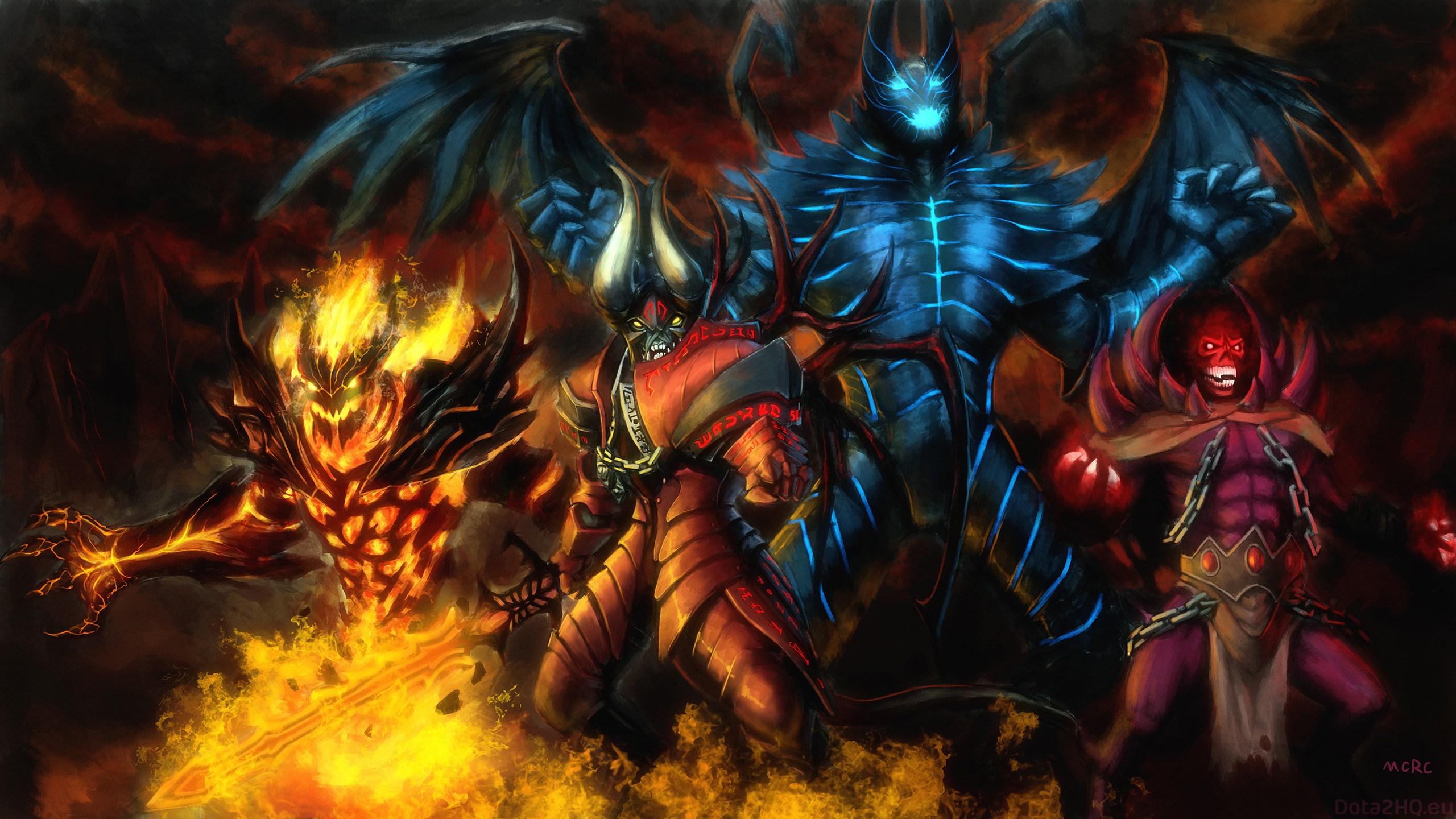 Dota 2 Doom And Shadow Fiend , HD Wallpaper & Backgrounds