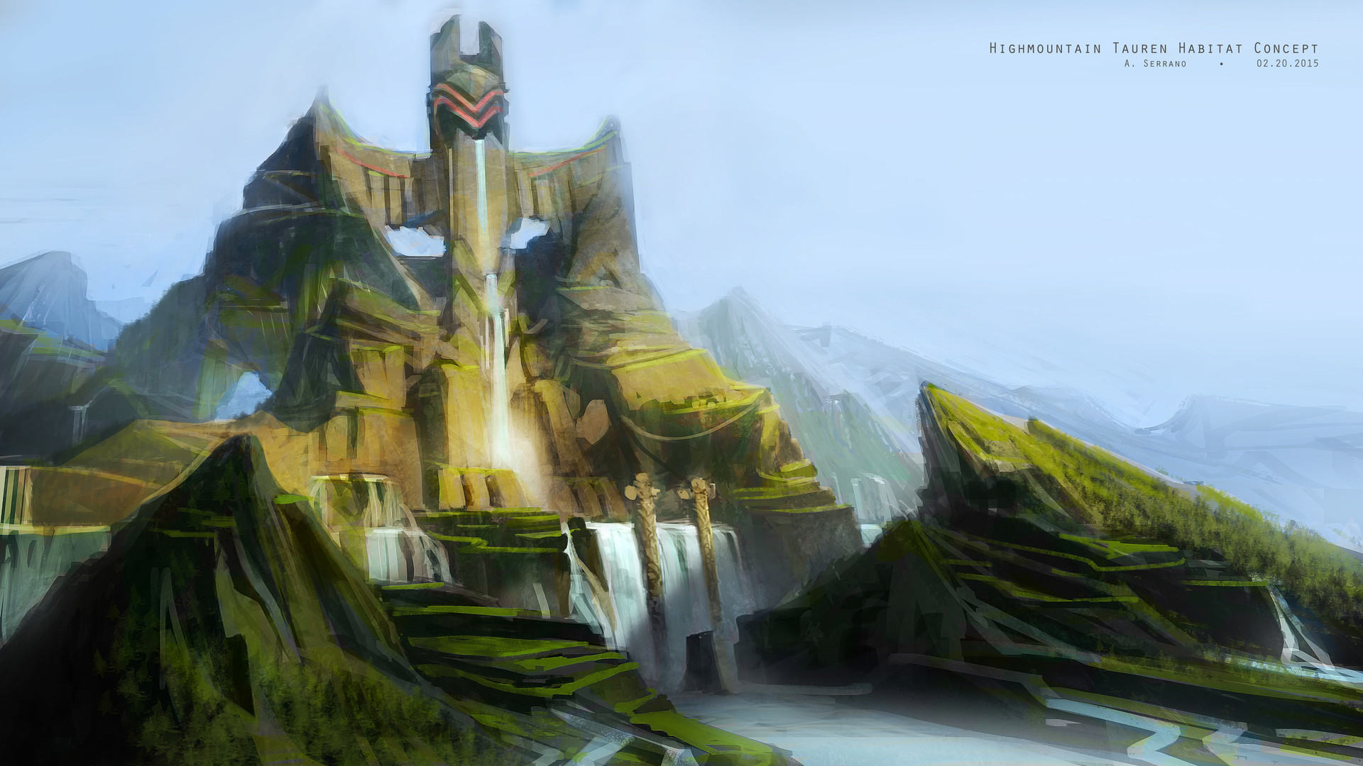 Highmountain Concept World Of Warcraft Location Art 1265990