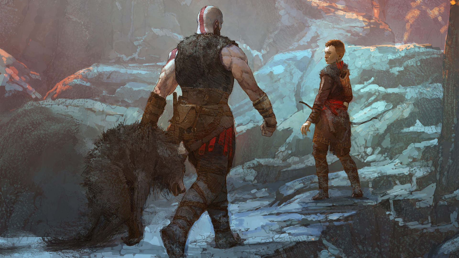 Kratos And Son Return From The Hunt Ps4 God Of War Art