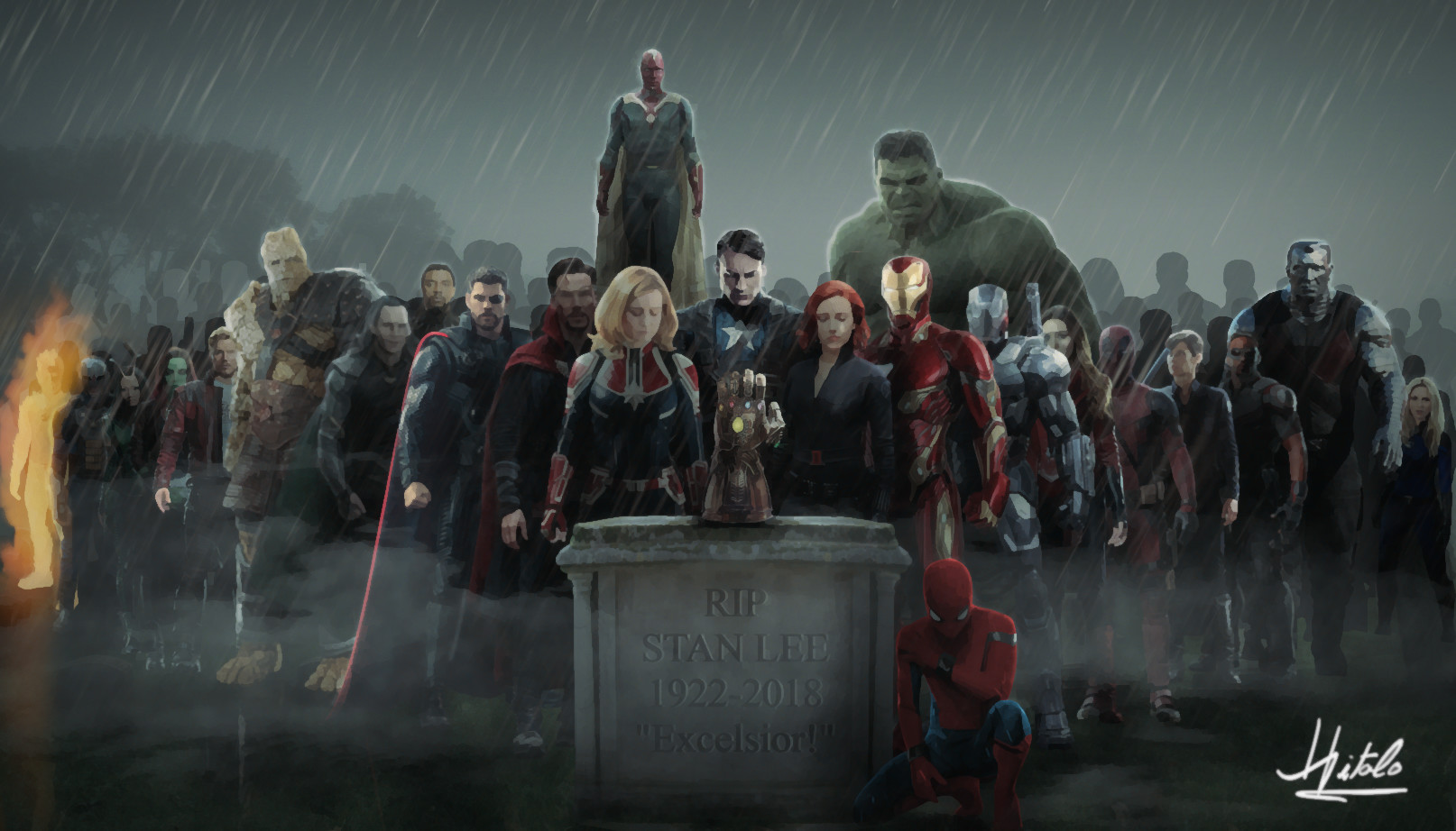 Stan Lee Tribute Wallpaper By Hitalo Fred Captain America