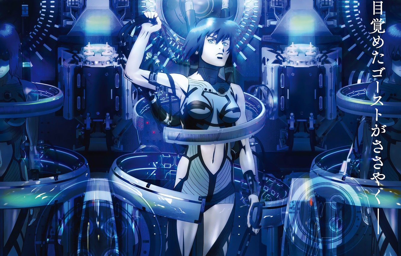 Photo Wallpaper Girl Fiction Wire Cyborg Cyberpunk Ghost In The Shell The New Movie Poster 1286921 Hd Wallpaper Backgrounds Download