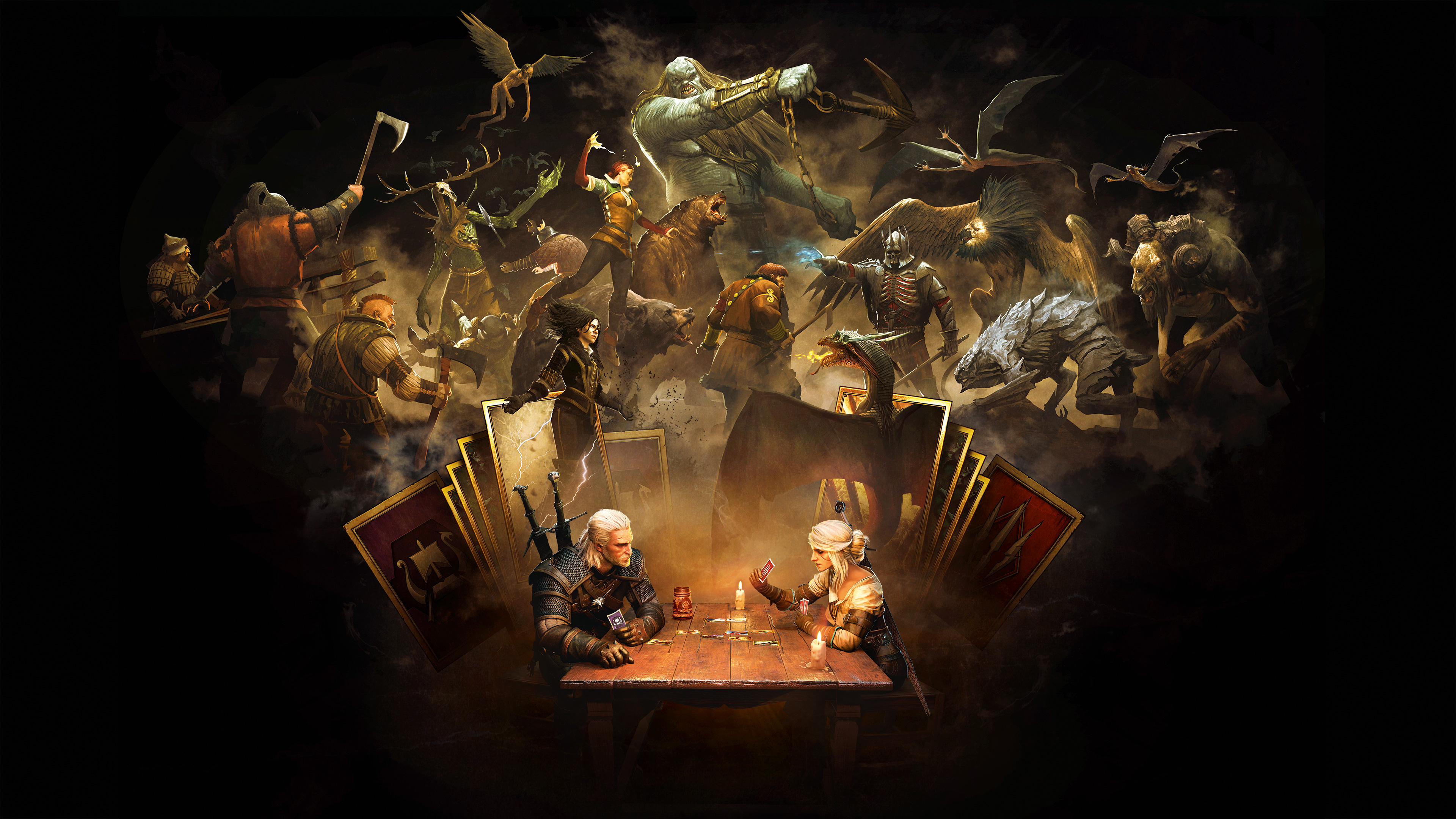 Geralt Of Rivia Eredin Triss Merigold Gwent The 3840 X