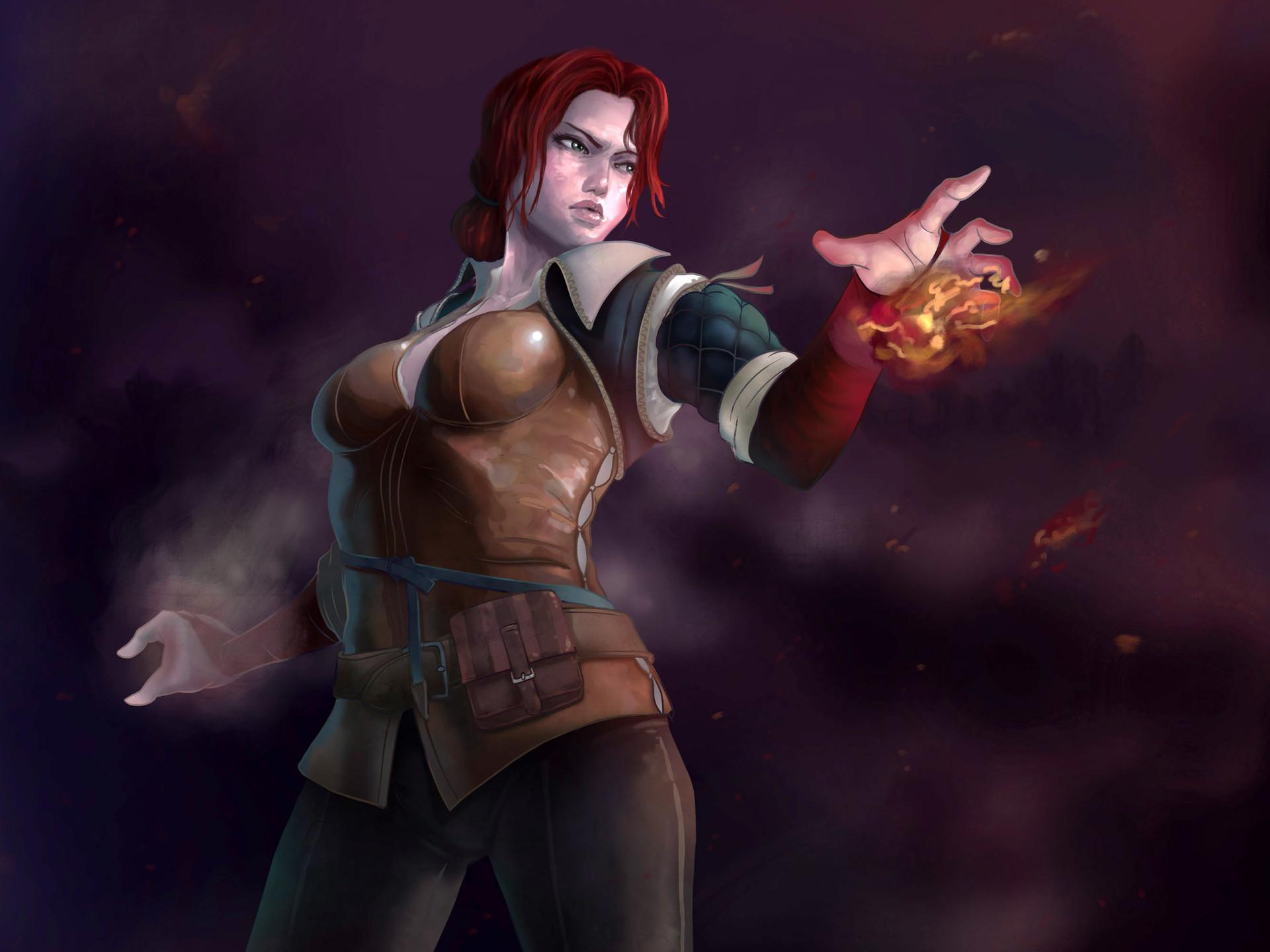 Triss Merigold Witcher Witcher 3 Fanart Triss 1289643