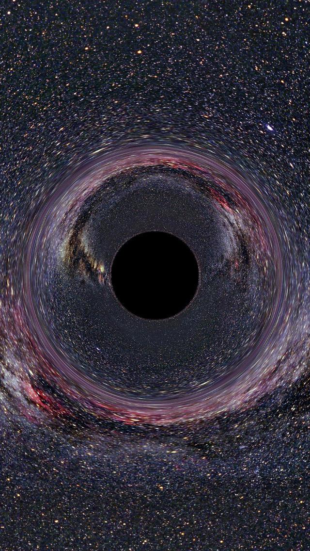 Black Hole Artist Impression Iphone 5 Wallpaper Black Hole