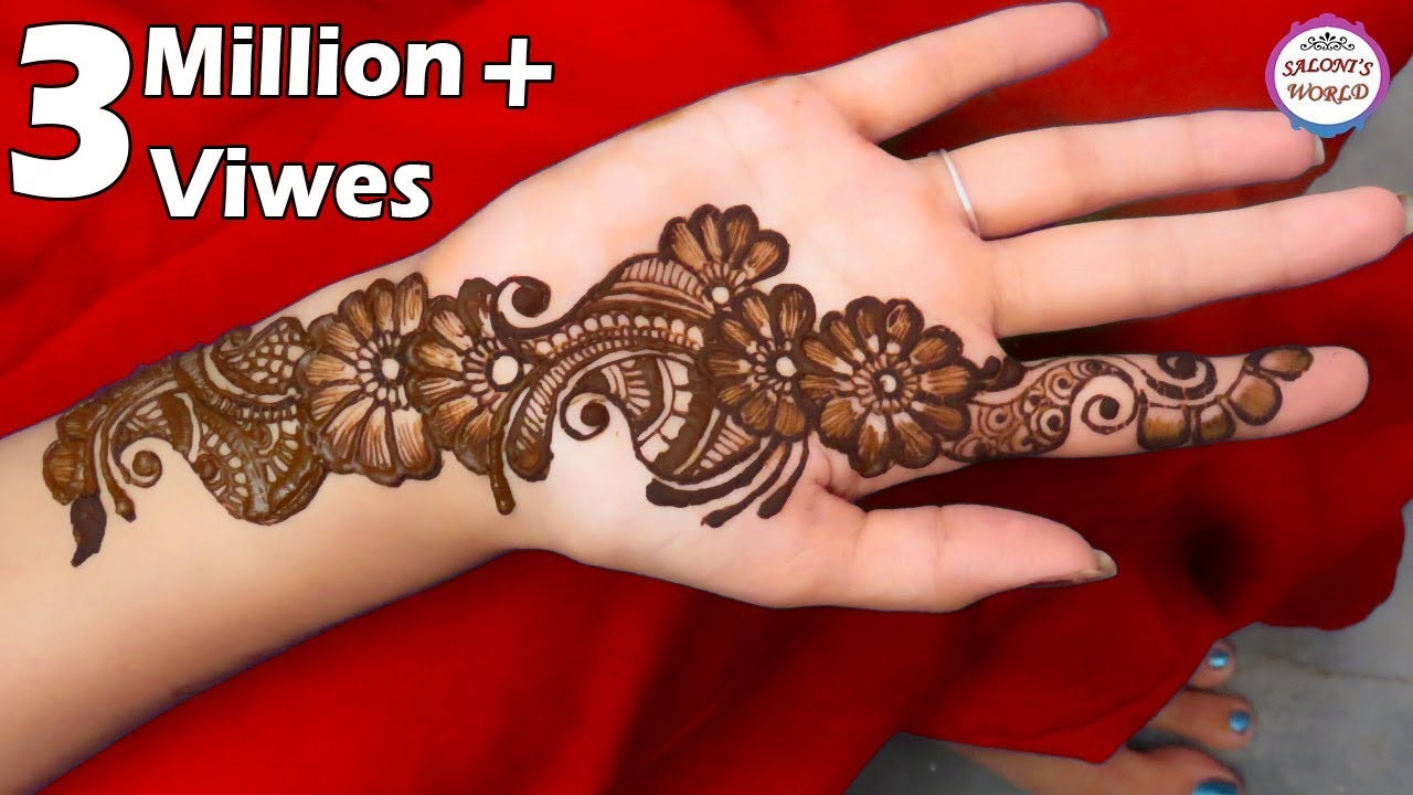 Simple Arabic Henna Mehndi Designs For Hands , Front Mehndi