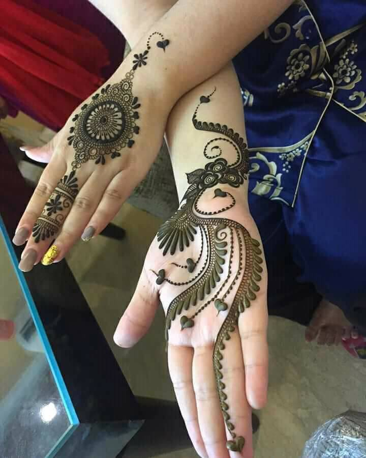 front hand latest mehndi design