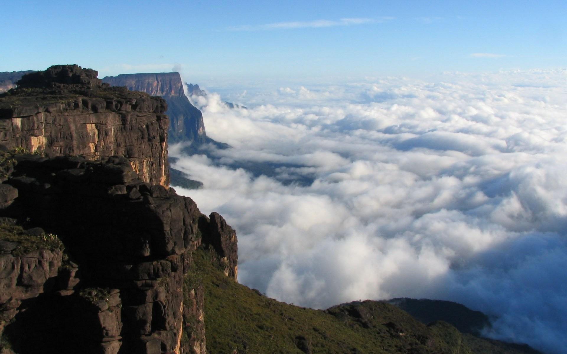 Angel Falls, Venezuela, Waterfall, Mountain, Cliff, - Venezuela Mountains , HD Wallpaper & Backgrounds