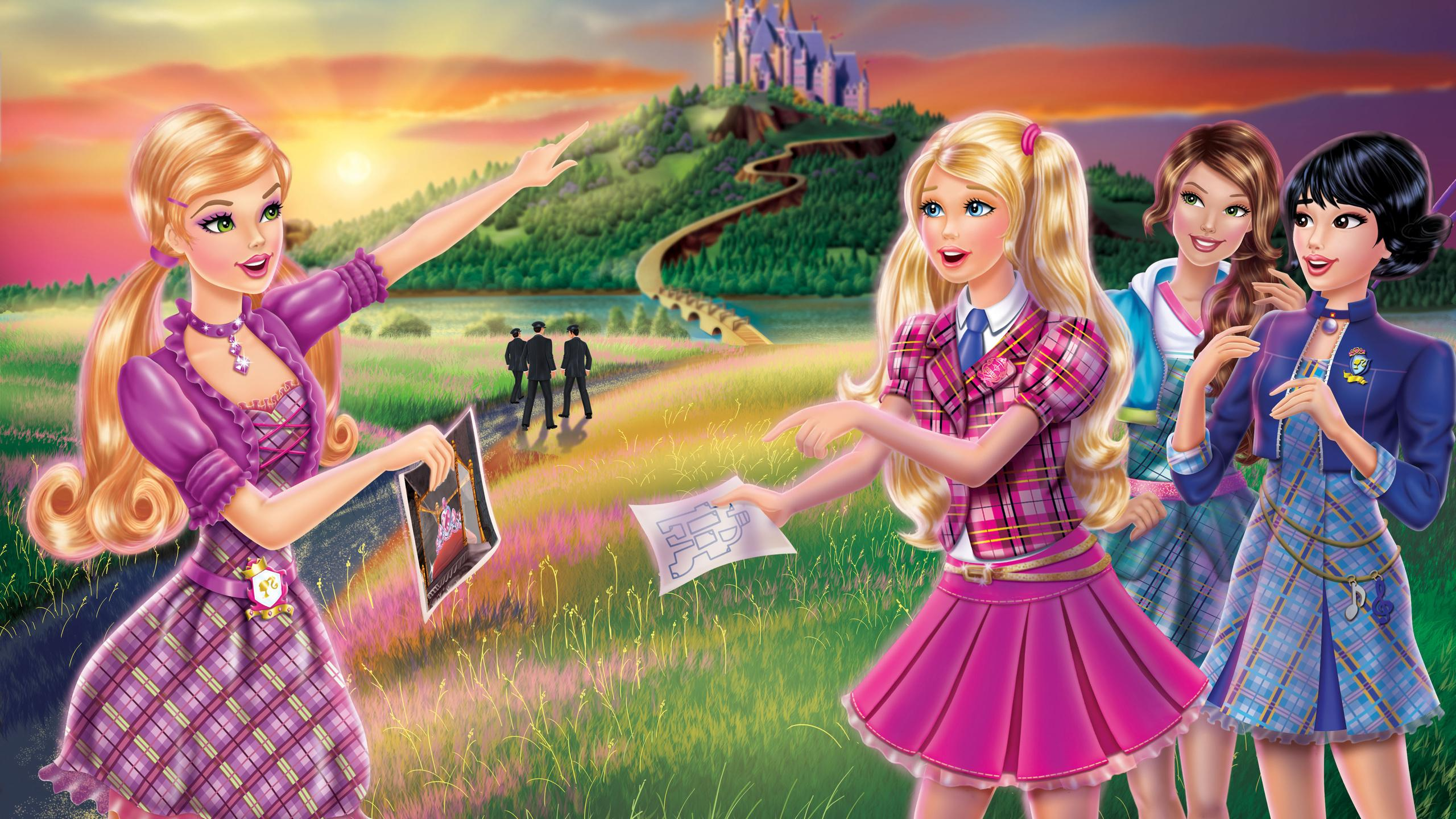 Barbie, Barbie Princess, Barbie Princess Charm School - Barbie And Charm School Princess , HD Wallpaper & Backgrounds