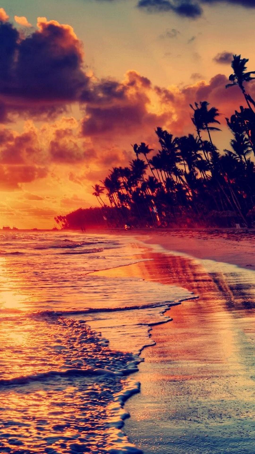 Sunset Beach Iphone 5s Wallpaper Download - Beach Wallpaper Hd Iphone 6 , HD Wallpaper & Backgrounds