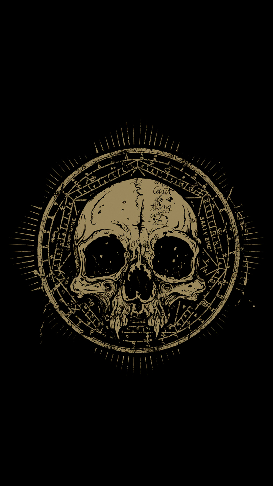 Gold Skull Wallpaper - Iphone Wallpaper Skull , HD Wallpaper & Backgrounds