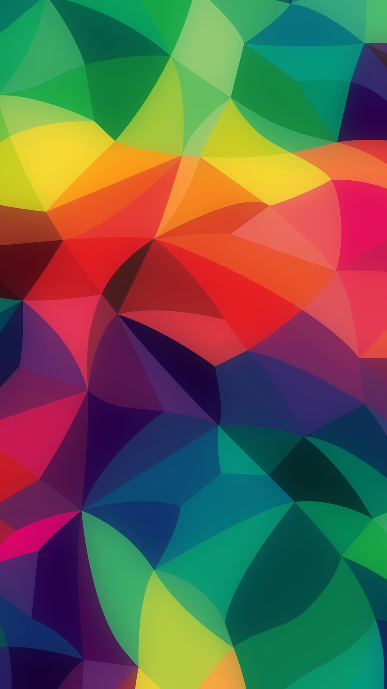 Rainbow Abstract Colors Pastel Dark Pattern Android