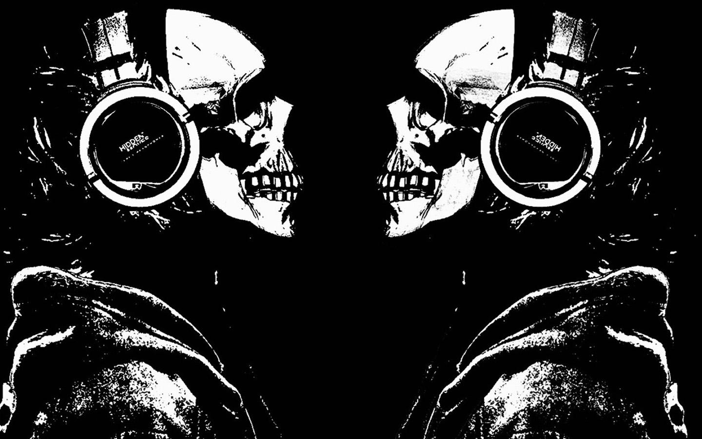 skull backgrounds in hdq 1440x900 by