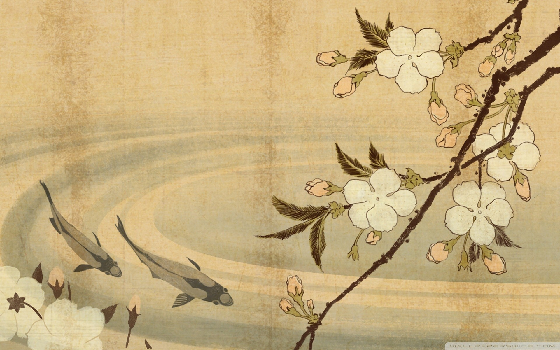 1920x1080, Ancient Japanese Art Wallpaper Pictures - Japanese Print Hd , HD Wallpaper & Backgrounds