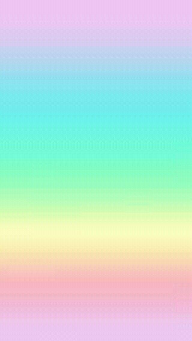 Pastel Rainbow Pink Aqua Yellow Ombre Iphone Wallpaper