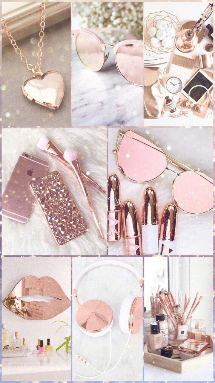 Fashion Brand Rose Gold Wallpapers Cute Wallpaper Iphone X