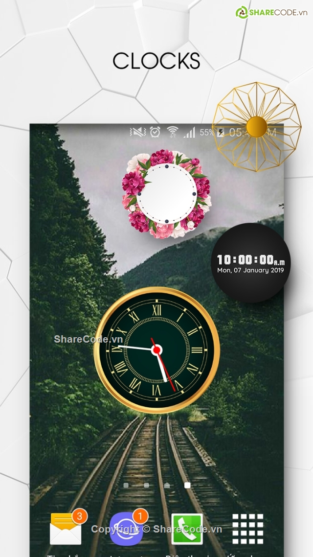 Clock Live Wallpaper Live Wallpaper Android Studio Analog