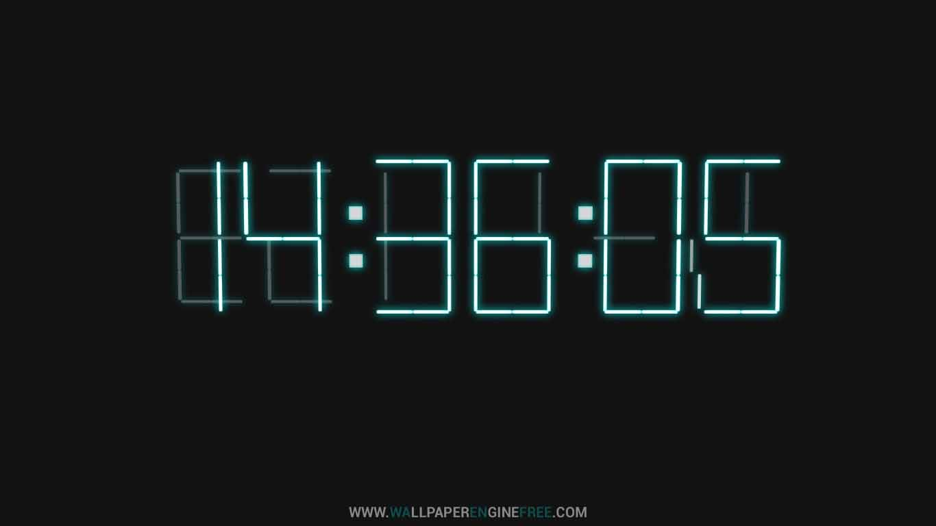 Downlaod 3d Digital Clock Wallpaper Engine Rainmeter Clock