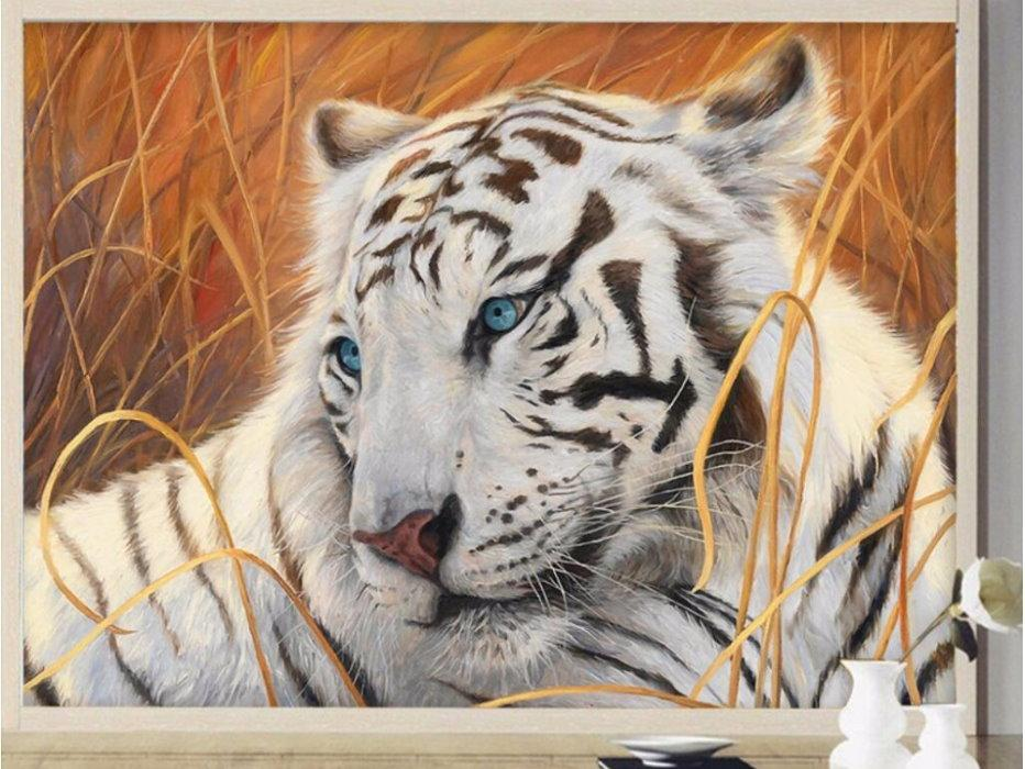 13 134080 3d blue eyed white tiger face wallpaper beautiful