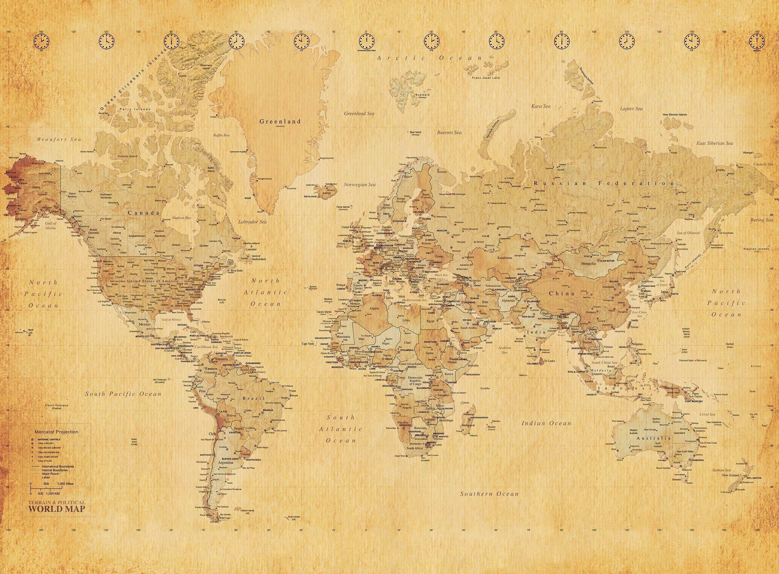 Vintage World Map , HD Wallpaper & Backgrounds