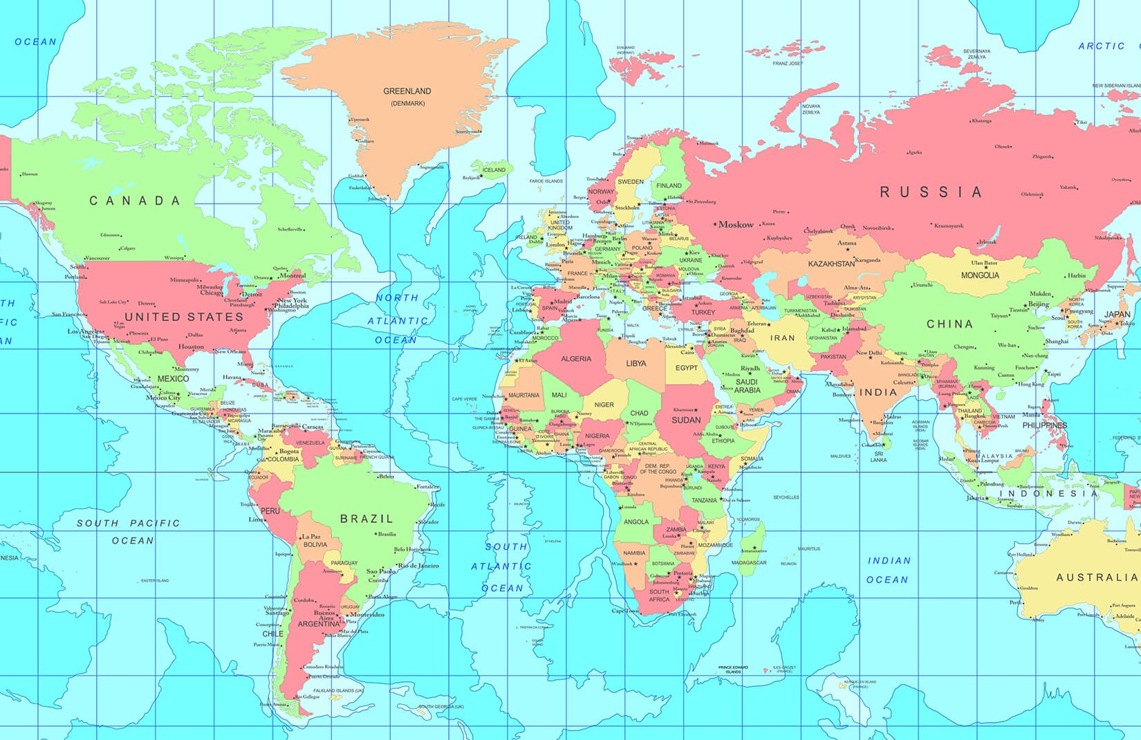 World Map With Capital Cities , HD Wallpaper & Backgrounds