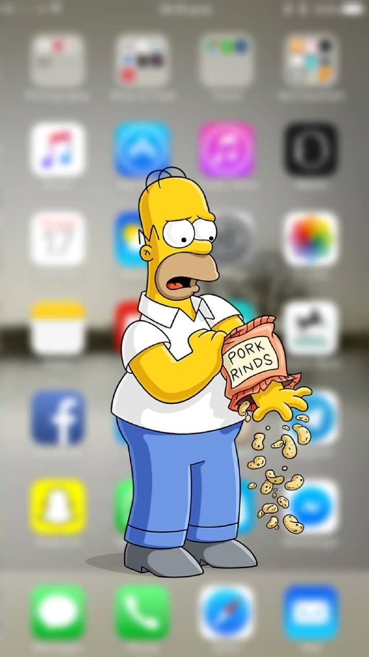 Papel De Parede Dos Simpsons , Wallpaper Dos Simpsons - Homero Simpson Fondo De Pantalla , HD Wallpaper & Backgrounds