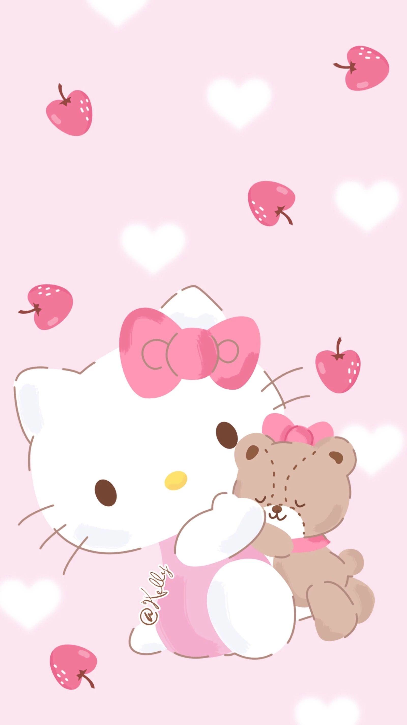 Hellokitty Pink Wallpaper Iphone Sanrio Wallpaper Baby