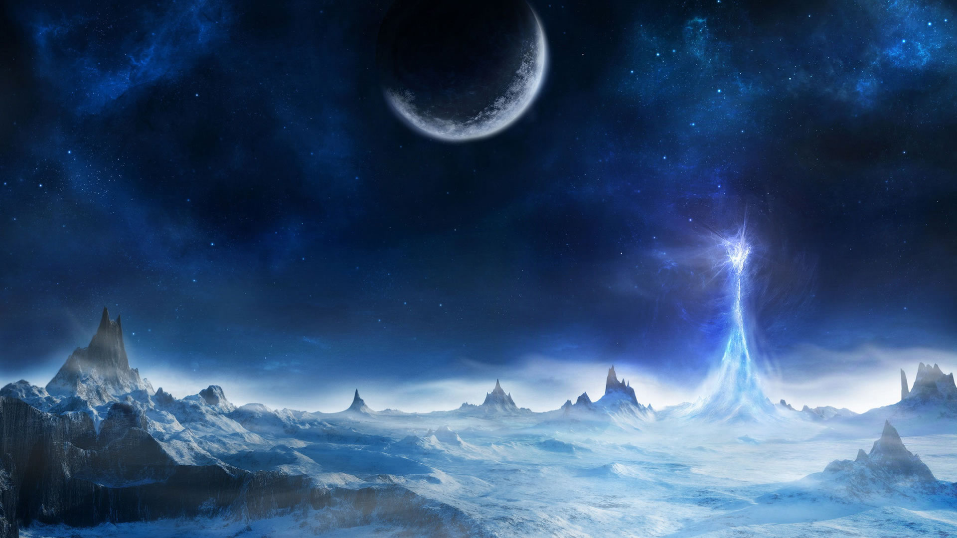 Fantasy High Definition - Fantasy Snow Landscape , HD Wallpaper & Backgrounds