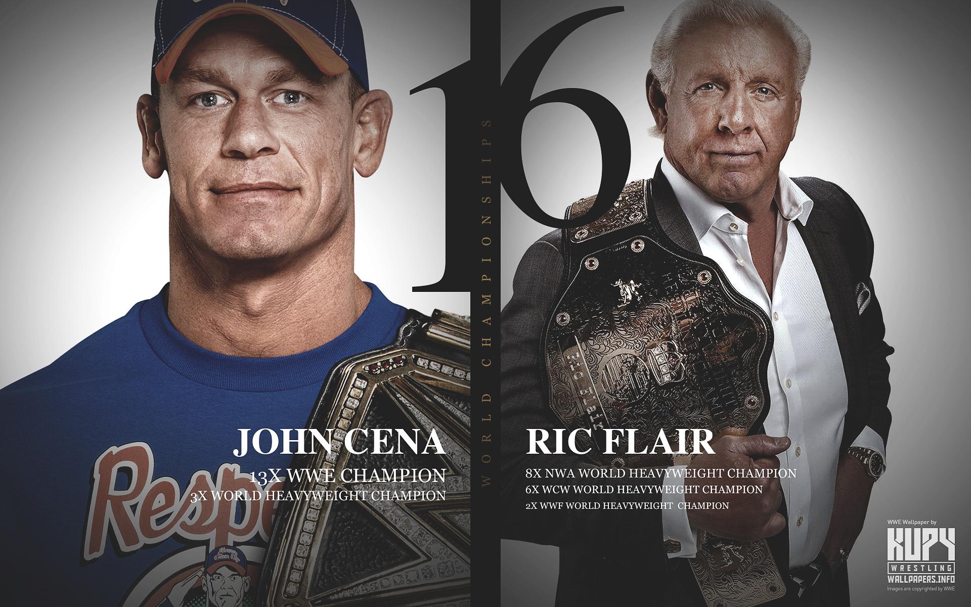 John Cena 16x World Champions Wallpaper 1920×1200 - 16 Time World Champion Ric Flair , HD Wallpaper & Backgrounds