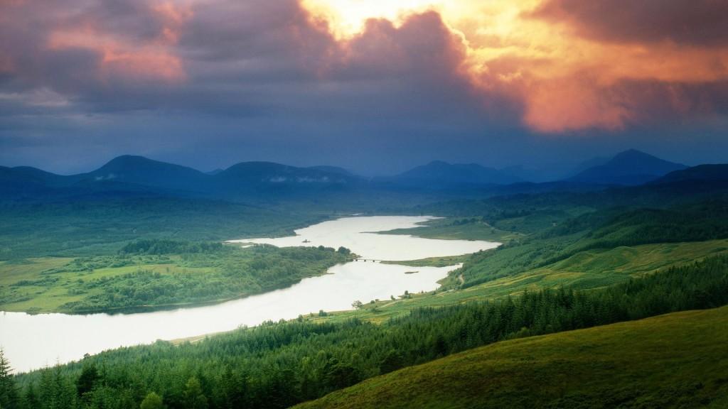 Sunset Landscape - Beautiful Nature Pics Hd , HD Wallpaper & Backgrounds